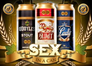 Sex in a can gold: O'Doyle's Stout, Sukit Draft, Lady Lager